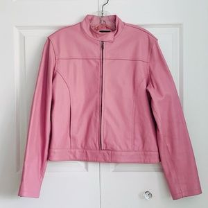 Brody Light Pink Leather Jacket